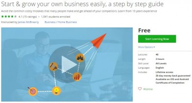 Udemy Coupon – Start & grow your own business easily, a step by step guide