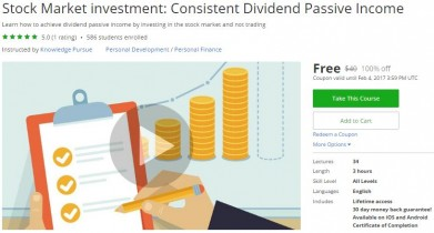 Udemy Coupon – Stock Market investment: Consistent Dividend Passive Income