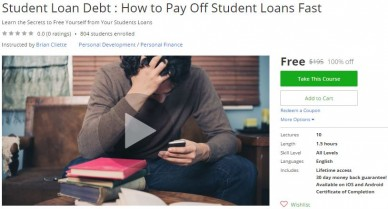 Udemy Coupon – Student Loan Debt : How to Pay Off Student Loans Fast