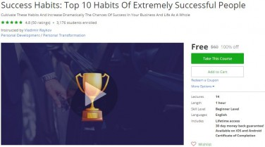 Udemy Coupon – Success Habits: Top 10 Habits Of Extremely Successful People