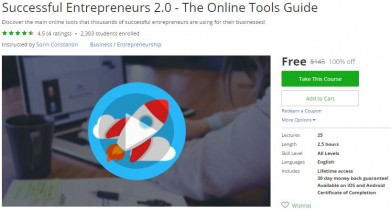 Udemy Coupon – Successful Entrepreneurs 2.0 – The Online Tools Guide