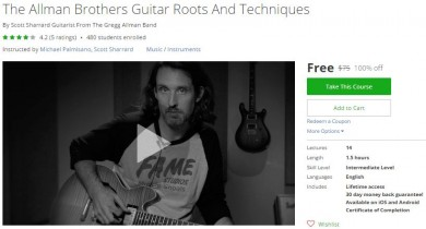 Udemy Coupon – The Allman Brothers Guitar Roots And Techniques