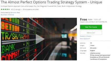Udemy Coupon – The Almost Perfect Options Trading Strategy System – Unique