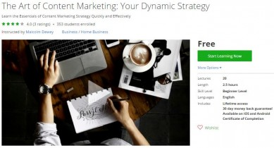 Udemy Coupon – The Art of Content Marketing: Your Dynamic Strategy