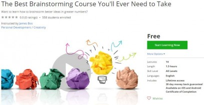 Udemy Coupon – The Best Brainstorming Course You'll Ever Need to Take