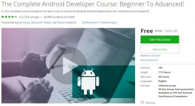 Udemy Coupon – The Complete Android Developer Course: Beginner To Advanced!