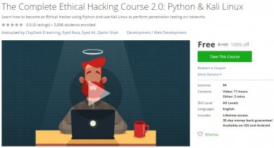 Udemy Coupon – The Complete Ethical Hacking Course 2.0: Python & Kali Linux