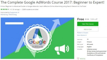 Udemy Coupon – The Complete Google AdWords Course 2017: Beginner to Expert!