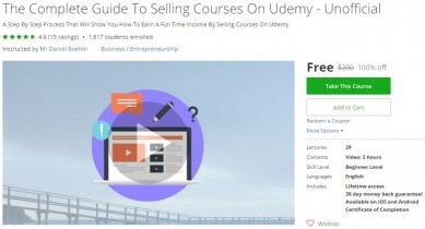 Udemy Coupon – The Complete Guide To Selling Courses On Udemy – Unofficial