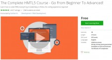 Udemy Coupon – The Complete HMTL5 Course – Go From Beginner To Advanced!