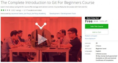 Udemy Coupon – The Complete Introduction to Git For Beginners Course
