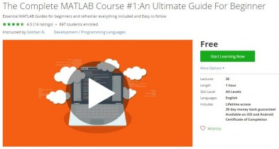 Udemy Coupon – The Complete MATLAB Course #1:An Ultimate Guide For Beginner