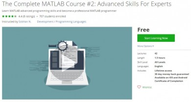 Udemy Coupon – The Complete MATLAB Course #2: Advanced Skills For Experts