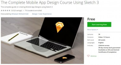 Udemy Coupon – The Complete Mobile App Design Course Using Sketch 3