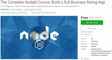 Udemy Coupon – The Complete NodeJS Course: Build a Full Business Rating App