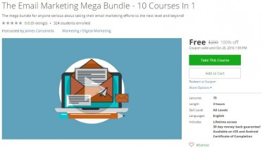 Udemy Coupon – The Email Marketing Mega Bundle – 10 Courses In 1