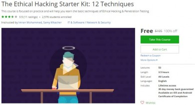 Udemy Coupon – The Ethical Hacking Starter Kit: 12 Techniques