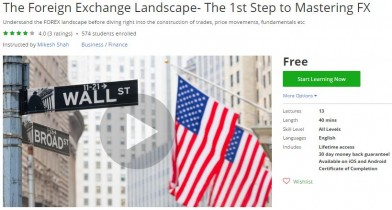 Udemy Coupon – The Foreign Exchange Landscape- The 1st Step to Mastering FX
