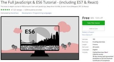 Udemy Coupon – The Full JavaScript & ES6 Tutorial – (including ES7 & React)