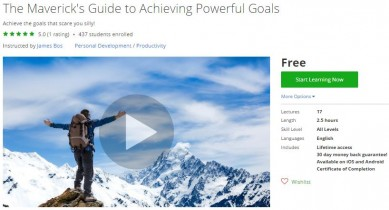 Udemy Coupon – The Maverick's Guide to Achieving Powerful Goals