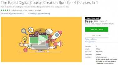 Udemy Coupon – The Rapid Digital Course Creation Bundle – 4 Courses In 1