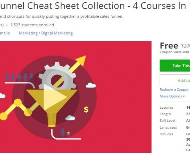 Udemy Coupon – The Sales Funnel Cheat Sheet Collection – 4 Courses In 1