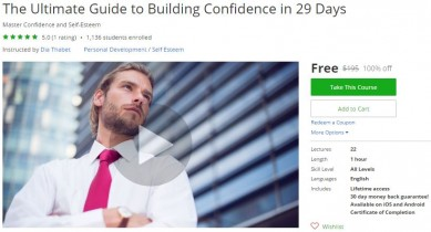 Udemy Coupon – The Ultimate Guide to Building Confidence in 29 Days