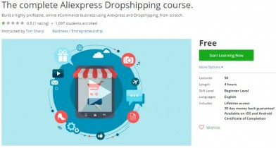 Udemy Coupon – The complete Aliexpress Dropshipping course