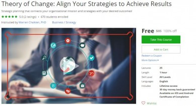 Udemy Coupon – Theory of Change: Align Your Strategies to Achieve Results