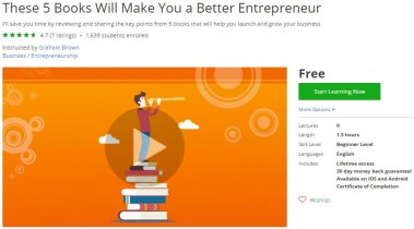 Udemy Coupon – These 5 Books Will Make You a Better Entrepreneur
