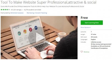Udemy Coupon – Tool To Make Website Super Professional,attractive & social
