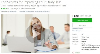 Udemy Coupon – Top Secrets for Improving Your StudySkills