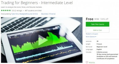Udemy Coupon – Trading for Beginners – Intermediate Level