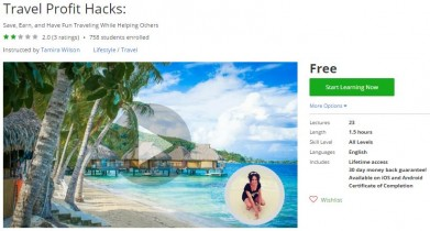 Udemy Coupon – Travel Profit Hacks