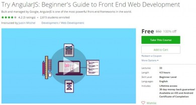Udemy Coupon – Try AngularJS: Beginner's Guide to Front End Web Development