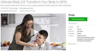 Udemy Coupon – Ultimate Body 2.0: Transform Your Body In 2016