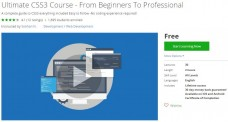 Udemy Coupon – Ultimate CSS3 Course – From Beginners To Professional