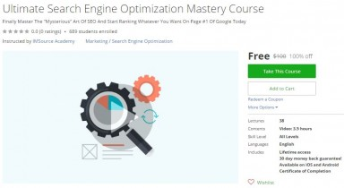 Udemy Coupon – Ultimate Search Engine Optimization Mastery Course