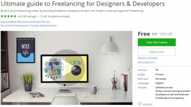 Udemy Coupon – Ultimate guide to Freelancing for Designers & Developers