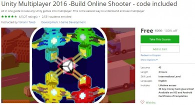 Udemy Coupon – Unity Multiplayer 2016 -Build Online Shooter – code included
