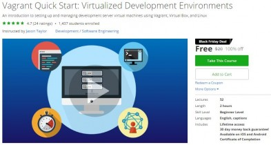 Udemy Coupon – Vagrant Quick Start: Virtualized Development Environments