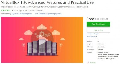 Udemy Coupon – VirtualBox 1.9: Advanced Features and Practical Use