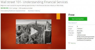 Udemy Coupon – Wall street 101- Understanding Financial Services