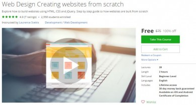 Udemy Coupon – Web Design Creating websites from scratch