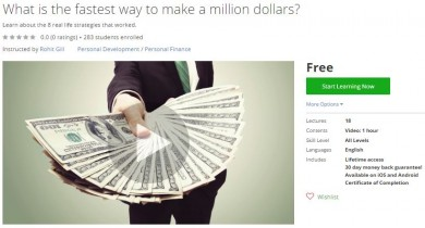 Udemy Coupon – What is the fastest way to make a million dollars?