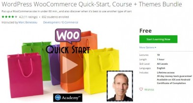 Udemy Coupon – WordPress WooCommerce Quick-Start, Course + Themes Bundle