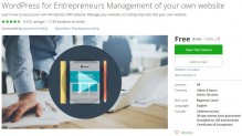 Udemy Coupon – WordPress for Entrepreneurs Management of your own website