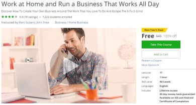 Udemy Coupon – Work at Home and Run a Business That Works All Day