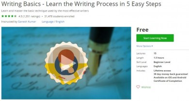 Udemy Coupon – Writing Basics – Learn the Writing Process in 5 Easy Steps