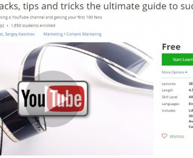 Udemy Coupon – YouTube hacks, tips and tricks the ultimate guide to success